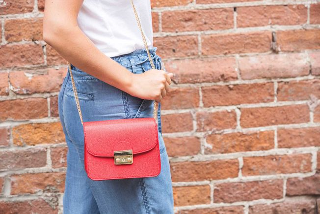 Bright Red Purse